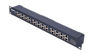 Twelve Port Power Injector Patch Panel - Borer Fingerprint Access Control Systems