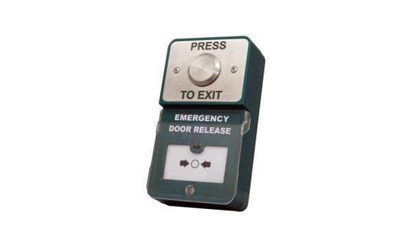 Dual Unit Press to Exit Emergency Door Release - Borer Fingerprint Access Control Systems