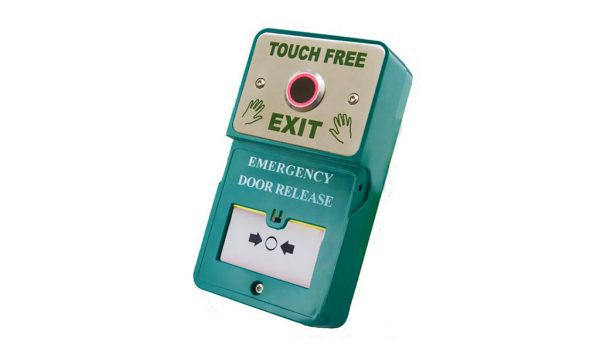 Dual Unit Touch Free Exit Emergency Door Release - Borer Fingerprint Access Control Systems