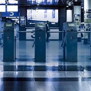 PoE Biometric Turnstiles